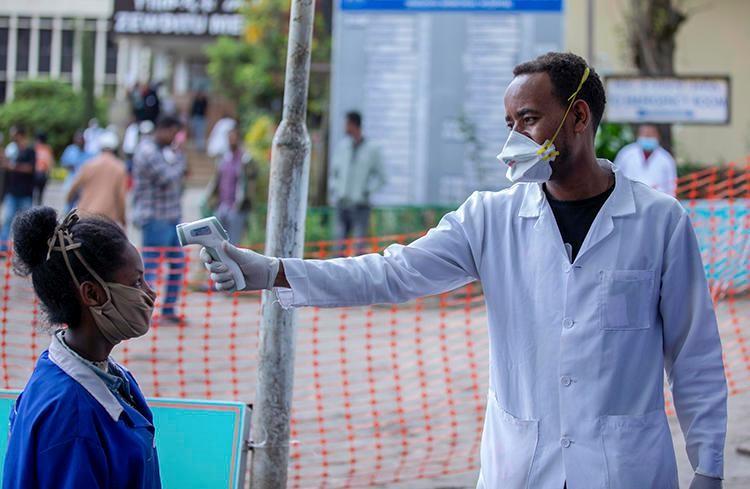 afrika ateş ölçümü - pandemi süreci